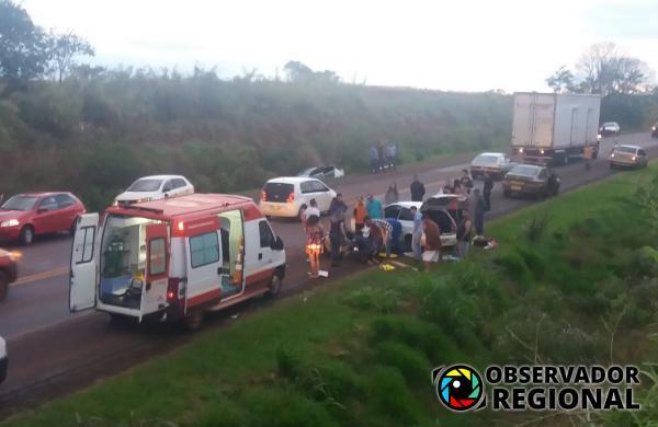 Acidente deixa sete pessoas feridas em Coronel Bicaco