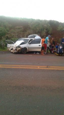 Duas pessoas morrem em decorrência do acidente na BR 468 em Coronel Bicaco