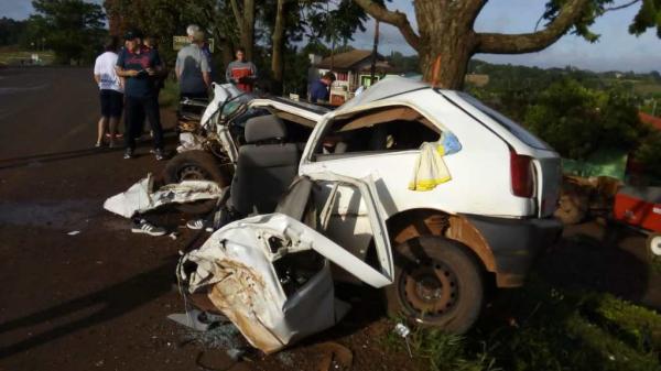 Três Passos: Acidente na VRS 822 deixa motorista ferido