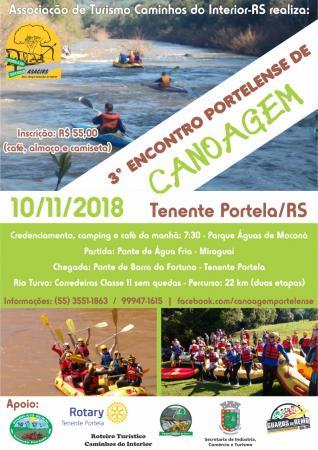 3º Encontro Portelense de Canoagem de Aventura ocorre neste sábado