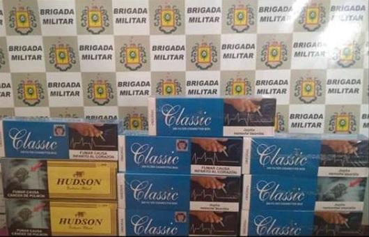 Brigada Militar apreende cigarros contrabandeados na BR 468