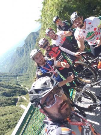Ciclistas de Tenente Portela participaram do 10º Desafio Serra do Rio do Rastro