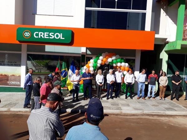 Cresol inaugura novas instalações da unidade de Derrubadas