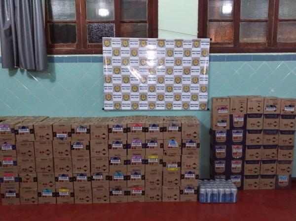 Produtos ilegais são apreendidos pela BM em Campo Novo