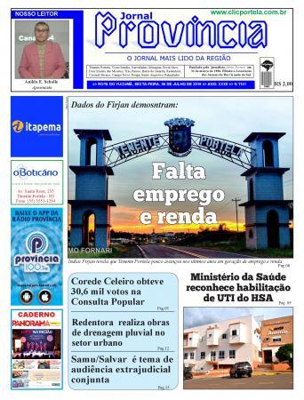 Confira o podcast com as manchetes da edição 1151 do Jornal Província