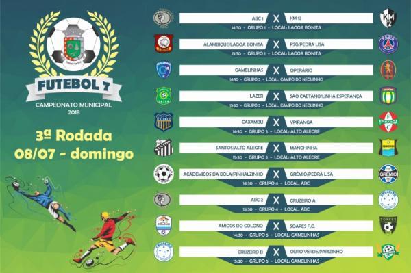 Rodada apontará os classificados no Campeonato Municipal de Tenente Portela