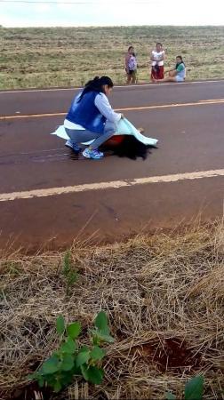 Atropelamento com morte é registrado em Miraguaí