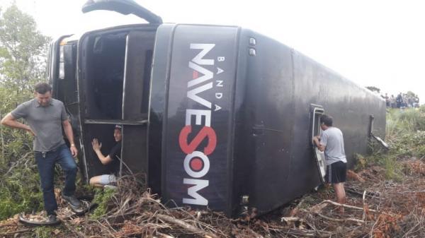 Acidente grave com o ônibus a banda Nave Som em Irani, Santa Catarina