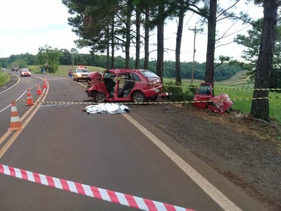 Saída de pista deixa vítima fatal na RS 305 em Horizontina