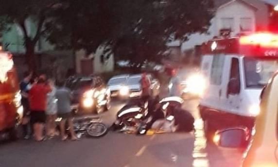Dois acidentes envolvendo motos deixou três pessoas feridas em Panambi
