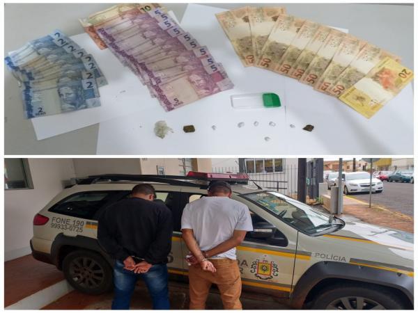 Indivíduos são presos por tráfico de drogas em Santo Augusto