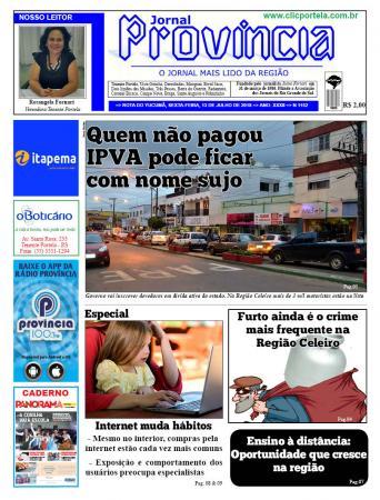 As manchetes do Jornal Província e outras notícias dessa sexta-feira