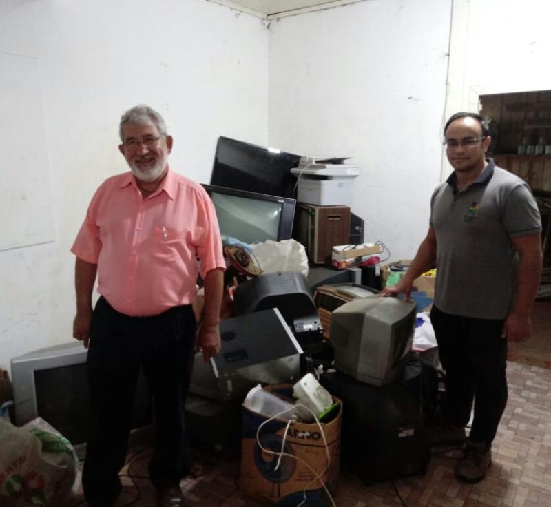 Entre janeiro e março deste ano, 1.500 quilos de lixo eletrônico foram recolhidos em Redentora