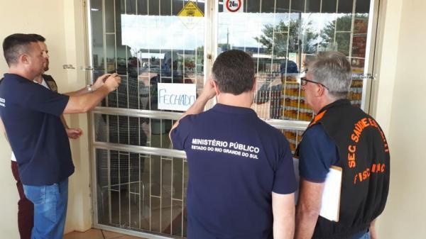 Ministério Público interdita supermercado em Redentora