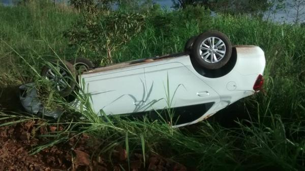 Palmitinho: Indivíduo é preso após roubar e capotar automóvel