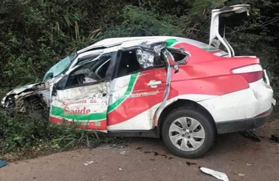 Paciente que era transportado ao HSA de Tenente Portela morre em acidente na BR 386