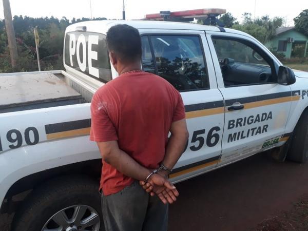 Tiradentes do Sul: BM prende foragido do sistema prisional