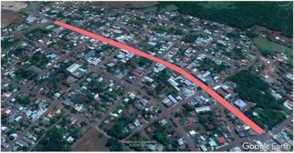 Projeto visa a construção de pista para caminhadas na Avenida Santa Rosa