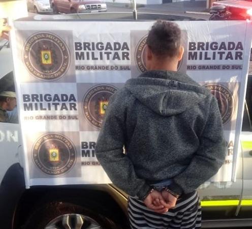 Brigada Militar prende procurado da Justiça em Três Passos