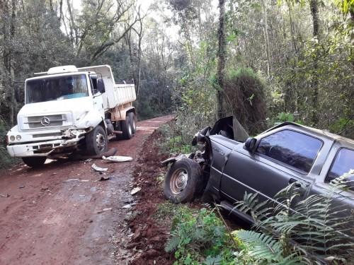 Homem fica ferido em acidente de trânsito no interior de Crissiumal