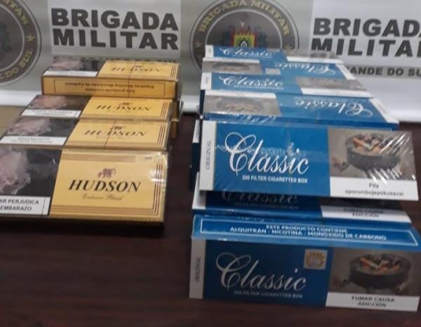 BM de Crissiumal apreende cigarros contrabandeados