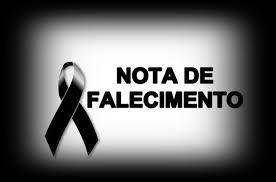 Comunicado de falecimento - João Onofre Rodrigues da Silva