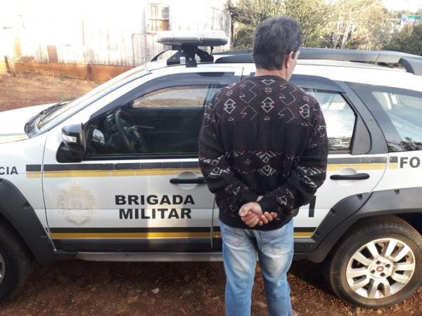 Indivíduo é preso pela BM na BR 468 em Coronel Bicaco