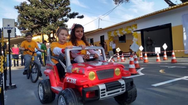 Pelotão Rodoviário de Santo Augusto inaugura Escolinha de Trânsito
