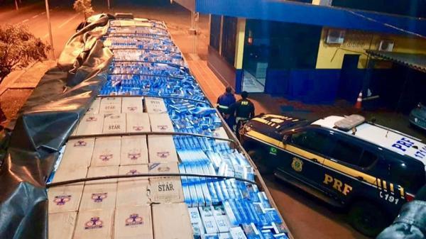 Carga de cigarros de origem estrangeira avaliada em R$ 1,7 milhão é apreendida em Seberi