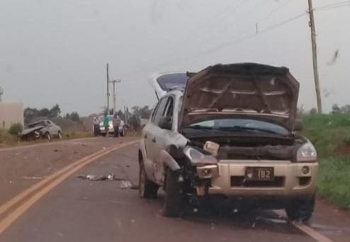 Dois veículos colidem na rodovia 317 em Coronel Bicaco