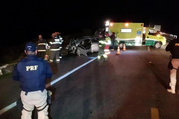 Identificadas vítimas de acidente na BR-116, em Cristal