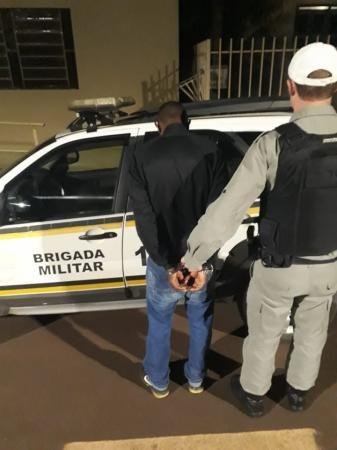 Brigada Militar prende procurado pela Justiça em Coronel Bicaco