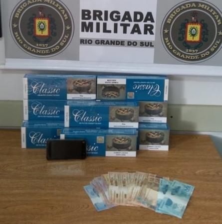 BM de Crissiumal prende homem por contrabando de cigarros