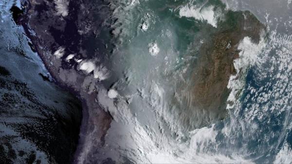 Imagens de satélite mostram alta concentração de fumaça na Região Celeiro