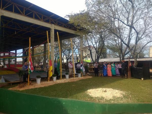 Tenente Portela: Inicia a montagem do Acampamento Farroupilha 2019