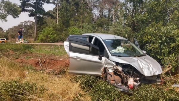 Veículo emplacado em Tenente Portela se envolve em acidente de trânsito na ERS 324