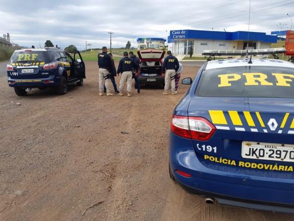 PRF apreende 143 quilos de maconha na BR 386 em Seberi