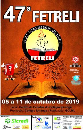 A festa do livro na 47ª FETRELI começa neste sábado