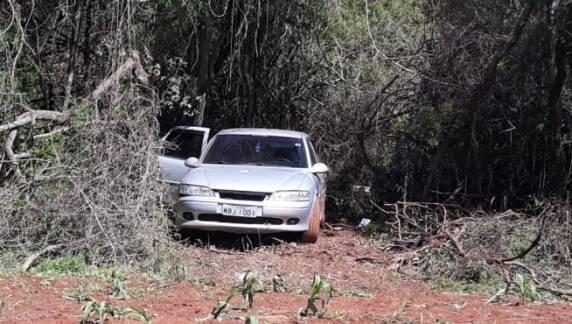 Vectra roubado em Panambi e usado em ação de assalto é encontrado em Cruz Alta