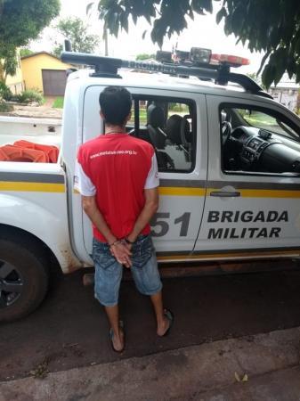 Brigada Militar captura foragido do sistema prisional em Humaitá