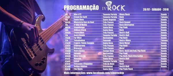 Festival de rock movimenta região no próximo sábado