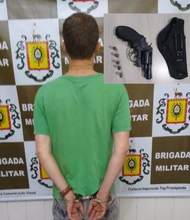 Prisão por porte ilegal de arma de fogo é registrada em Vista Gaúcha