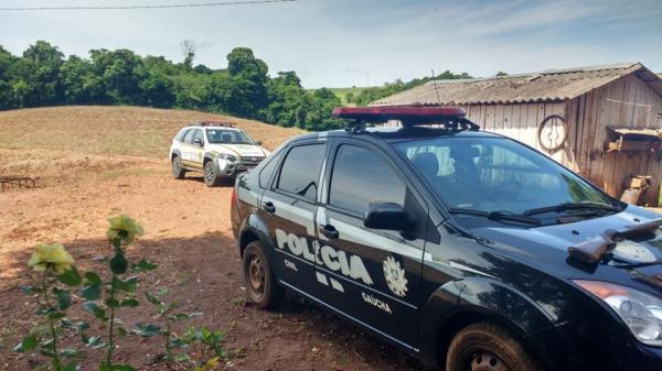 Brigada Militar e Polícia Civil cumprem mandado de busca em Coronel Bicaco