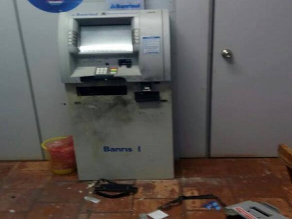 Bandidos atacam caixa eletrônico em São Valério do Sul