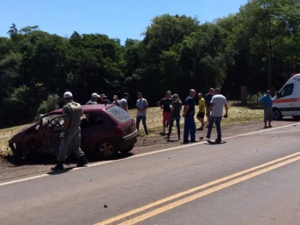Automóvel e carreta colidem na ERS 210 em São Martinho