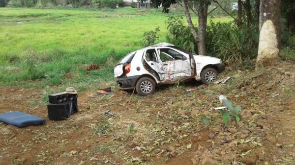 Acidente no interior de Seberi mata uma criança de 06 anos e deixa dois feridos graves