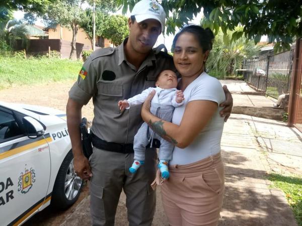 Policial militar salva a vida de bebê na cidade de Santa Rosa