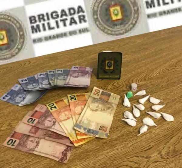 Brigada Militar prendeu homem com cocaína em Campo Novo