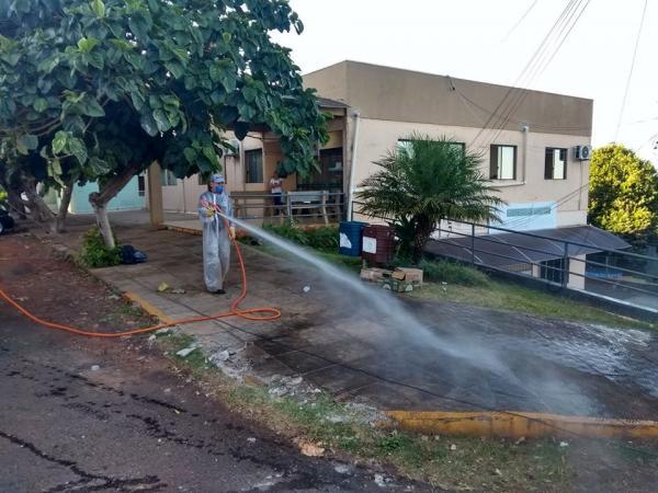 Tenente Portela: Locais com grande circulação de pessoas passam por desinfecção