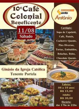 Hospital Santo Antônio realiza café colonial neste sábado (11)